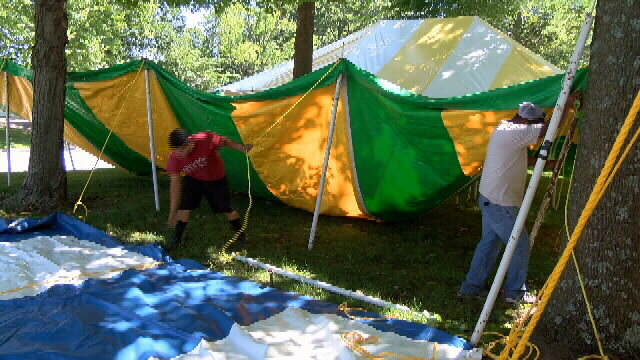 Tents go up for Marian Days as site is prepped for festival