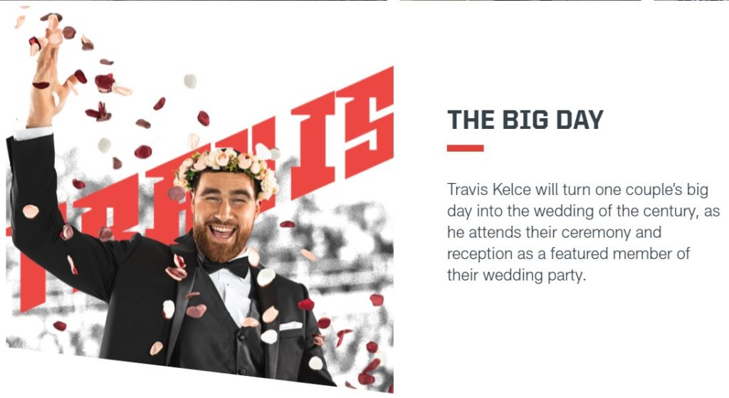 Travis Kelce will be a part of one lucky couple's wedding