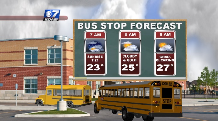 Bus Stop Forecast for Tuesday