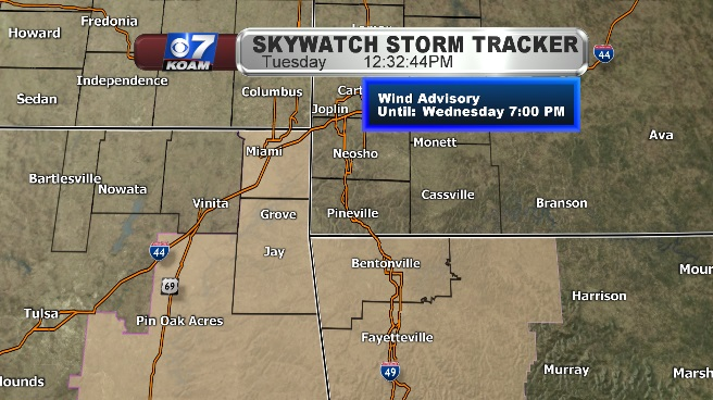 Wind Advisories arrive for Wednesday