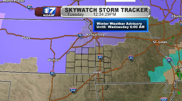 Winter Weather Advisory for northern Four States