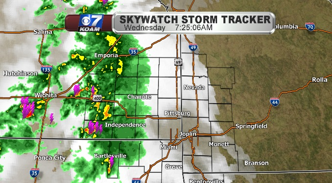 Wednesday morning thunderstorms in western Four States