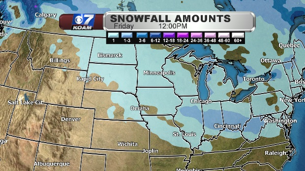 Future snowfall stays east of Four States