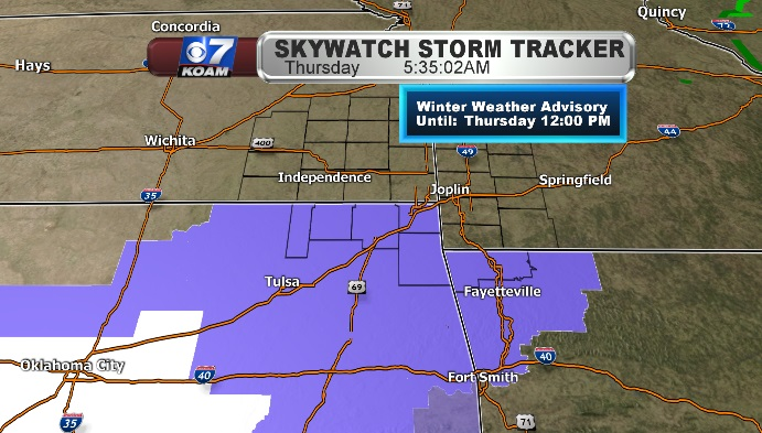 Winter Weather Adivsories for Thursday