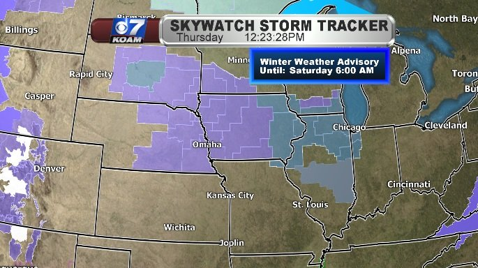 Winter Weather Advisories for the Midwest this weekend
