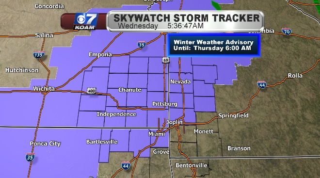 Winter Weather Advisory for Wednesday into Thursday