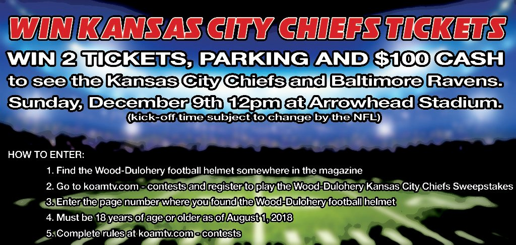 Wood-Dulohery Kansas City Chiefs Sweepstakes 2018