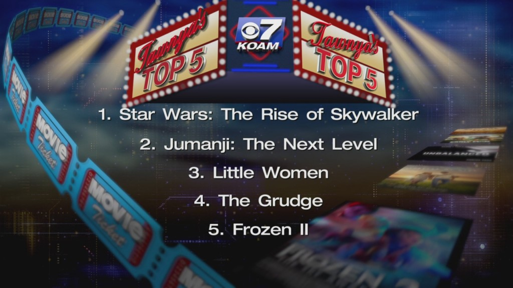 KOAM Top 5 movies graphic