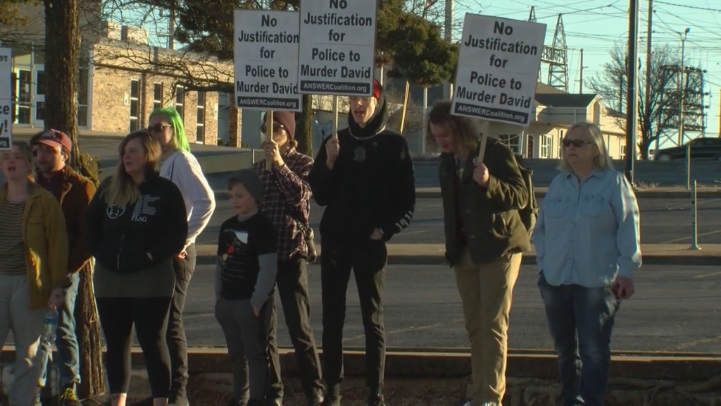 Joplin citizens protest an officer involved shooting