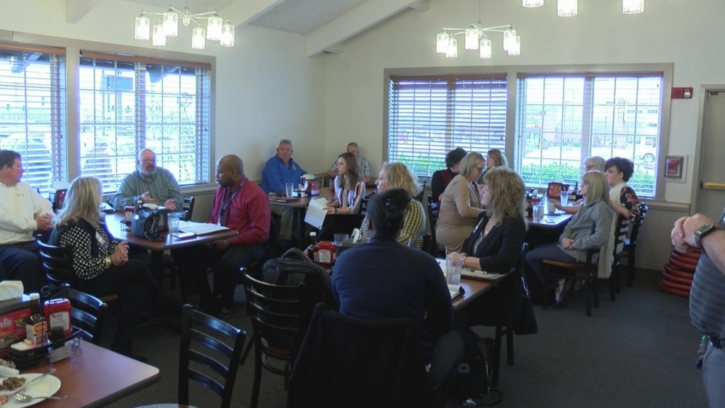 Members of Joplin business league meeting