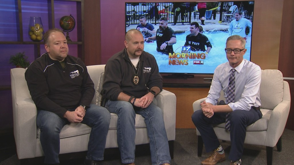 Sheriff David Groves and Pittsburg Police Officer Alan Moore talk about the Polar Plunge