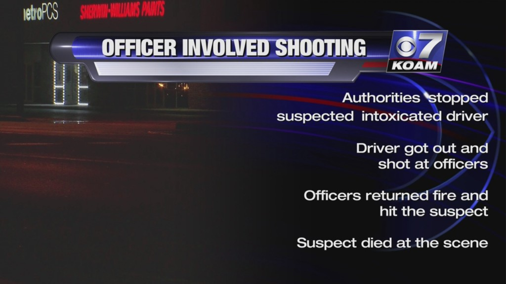 graphic showing details of officer involved shooting