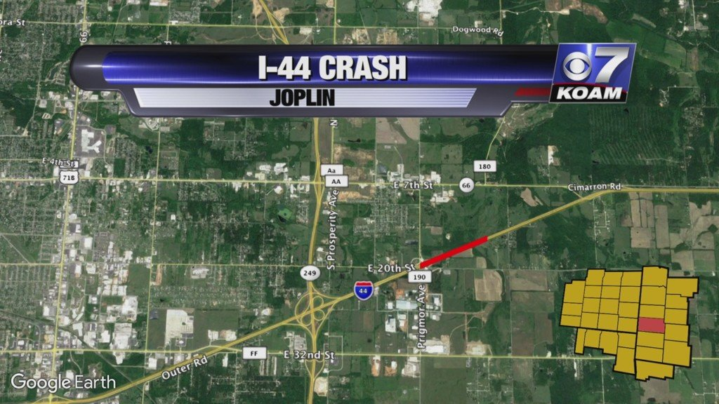 map of I-44 where crash happened