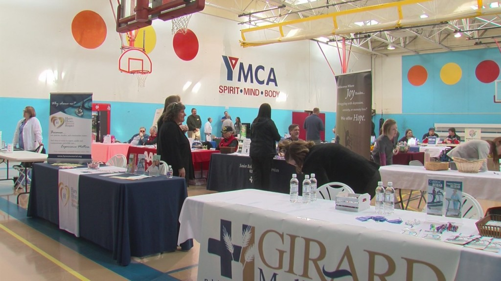 booths at the senior day health and community fair