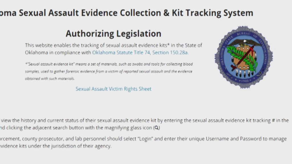 Oklahoma rape kit testing