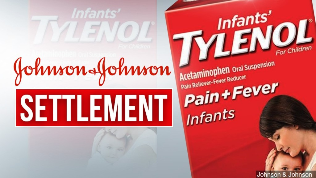 Infants' Tylenol class action lawsuit, image of package