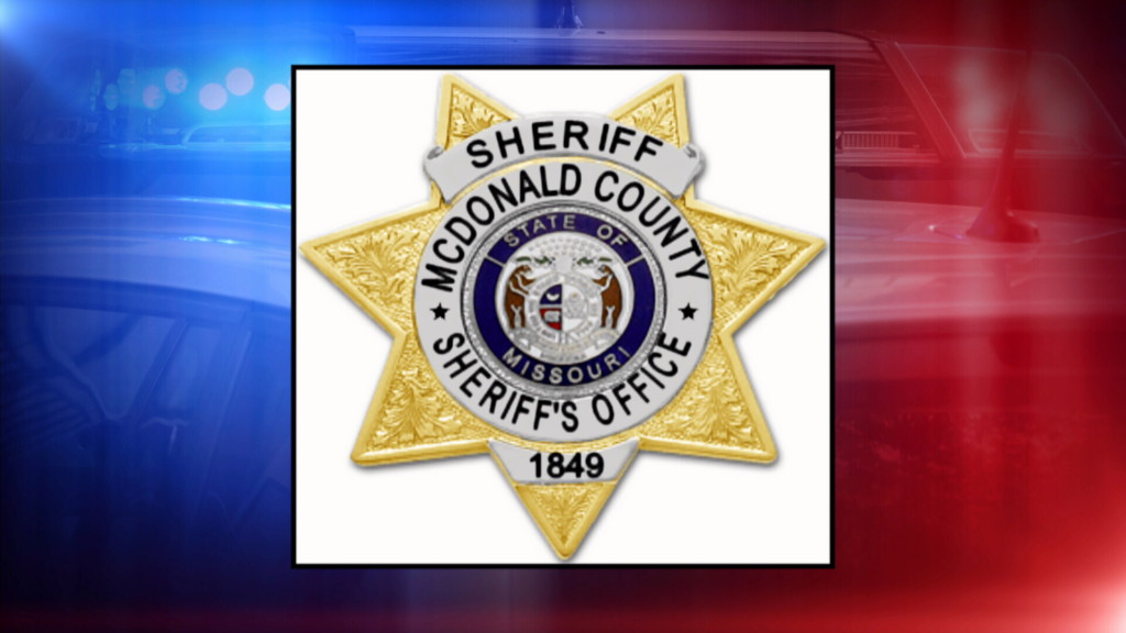 mcdonald county sheriff's badge, police lights