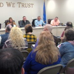 Ottawa County commission room full of people