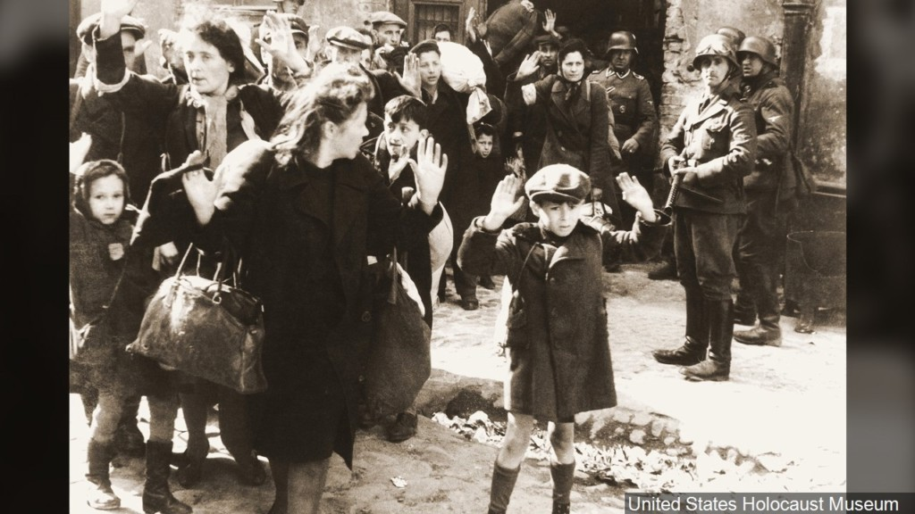 Polish Jews captured by Germans during the suppression of the Warsaw Ghetto Uprising