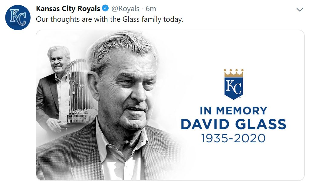 Royals tweet about David Glass passing
