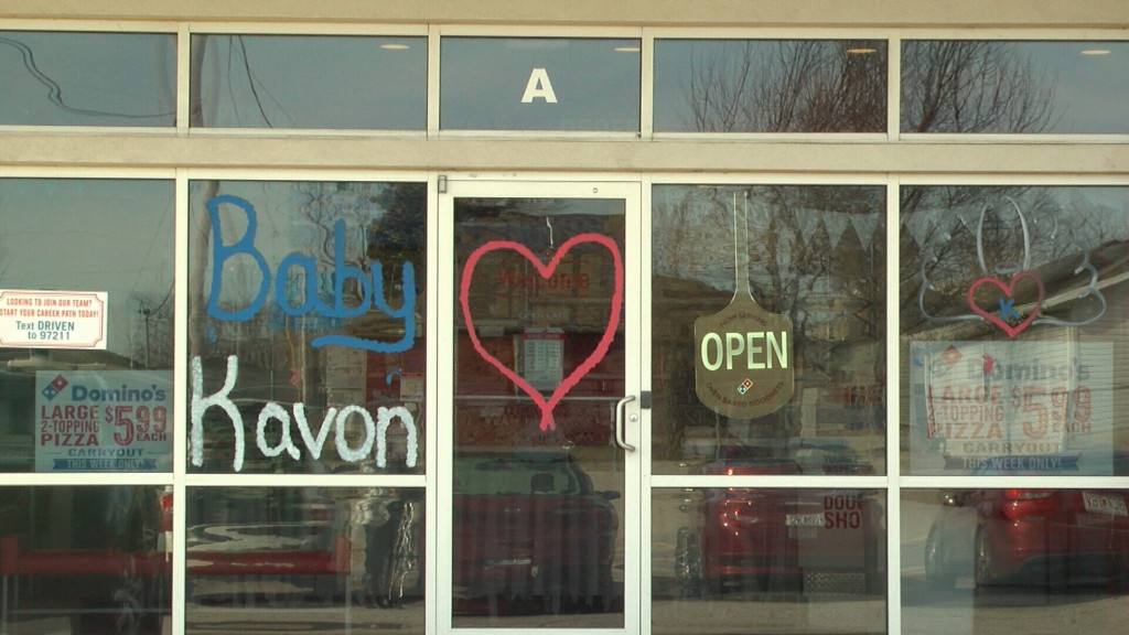 Domino's hosts benefit for baby Kavon