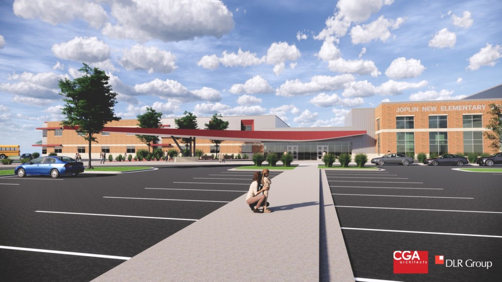 Rendering of the new elementary school on Dover hill