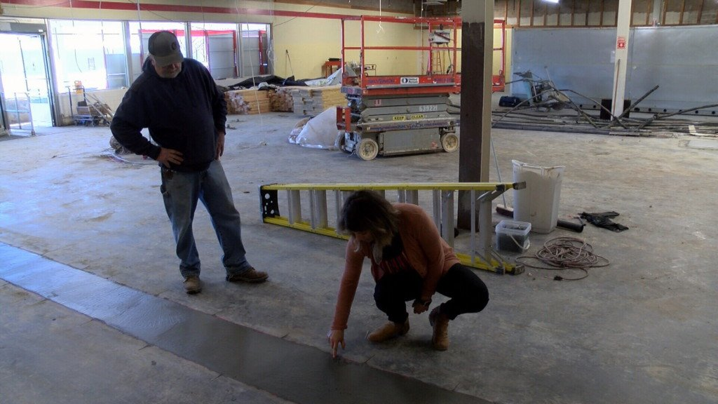 Amy Welch inspects progress being made on the new Humboldt grocery store