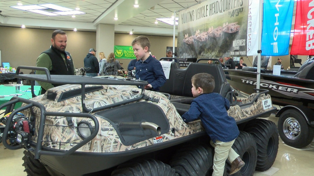Kids have fun at the hunting and fishing show