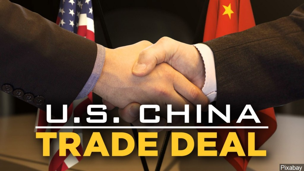 shaking hands, U.S. China trade deal