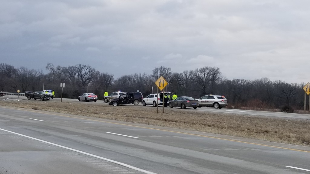 crash scene on u-s 69 in bourbon county