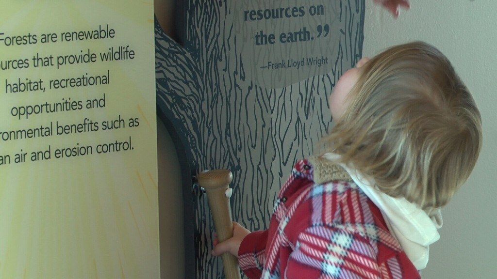 Child learns about nature at Wildcat Glades