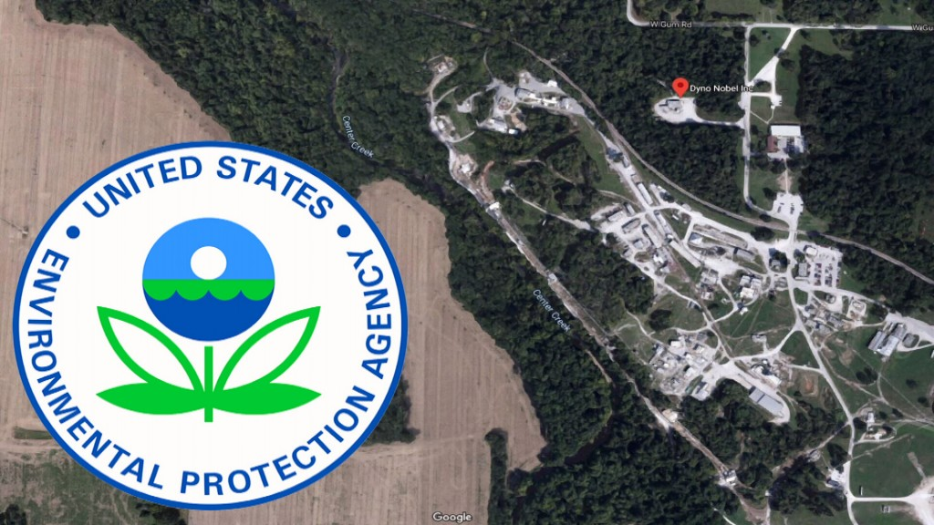 Google Map Of Dyno Nobel, Inc. And Epa Logo