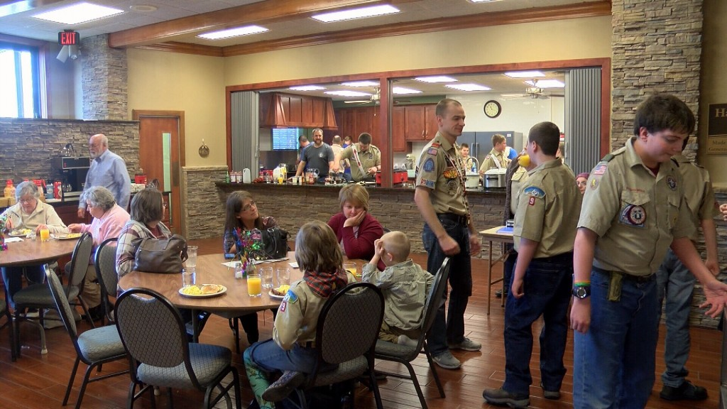 boy scouts raise money with a breakfast bash