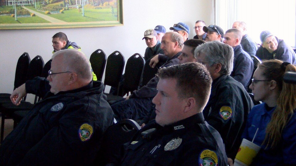 neosho city employees attend a meeting about cyber security