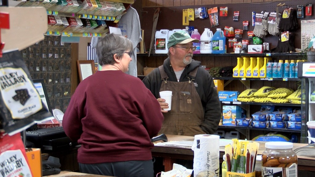 Mildred store staff serves customers as they think about coming to Fort Scott