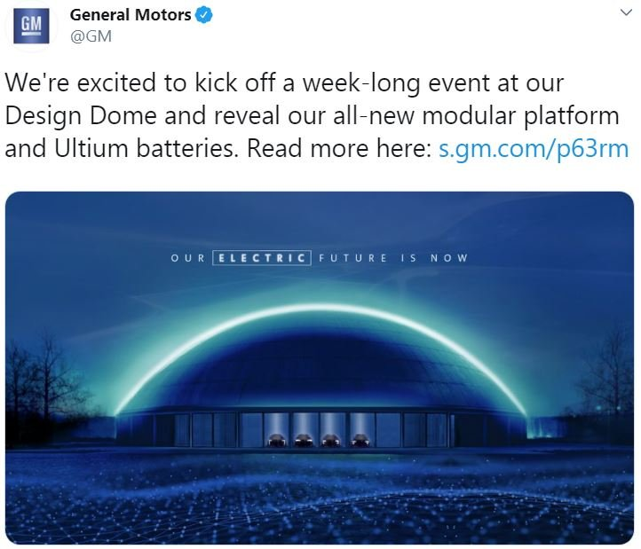 Gm Tweet About Electric Vehicles