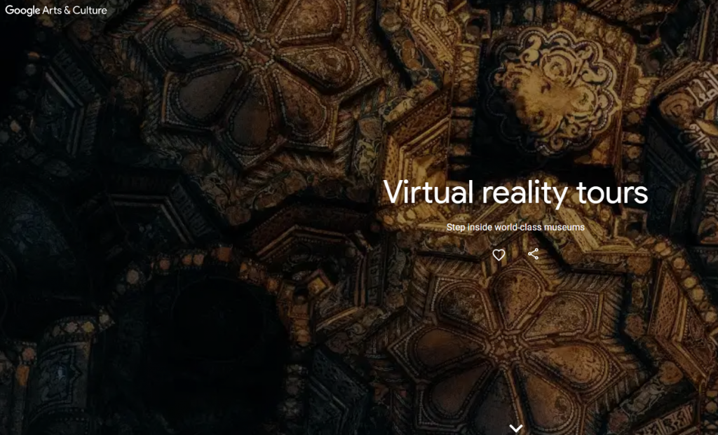 Google Virtual Reality Website Image