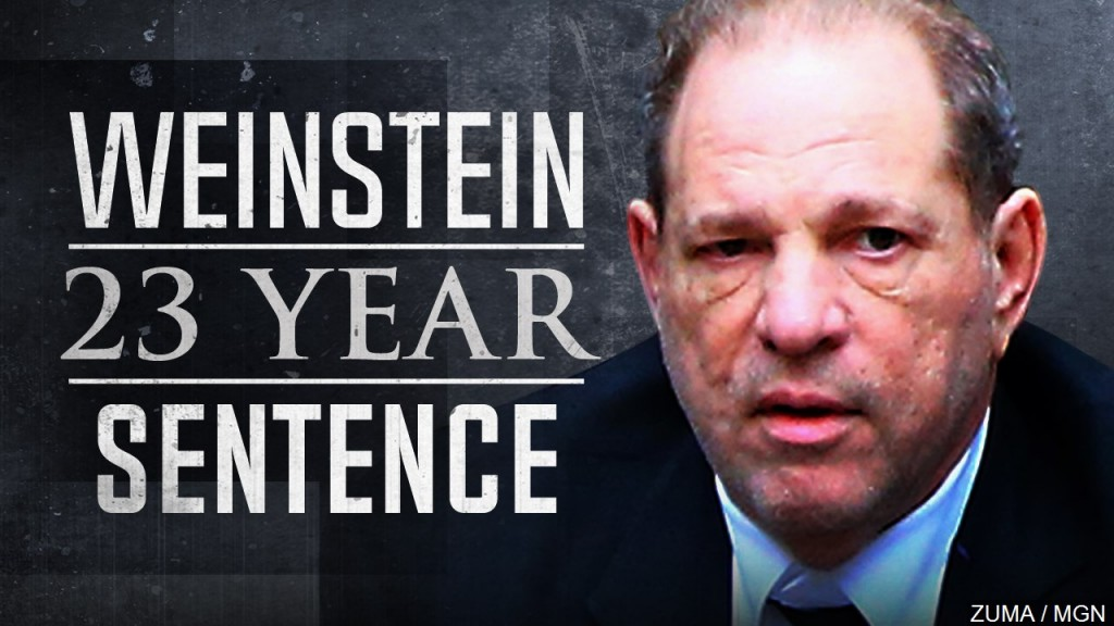 Harvey Weinstein Sentenced To 23 Years In Prison