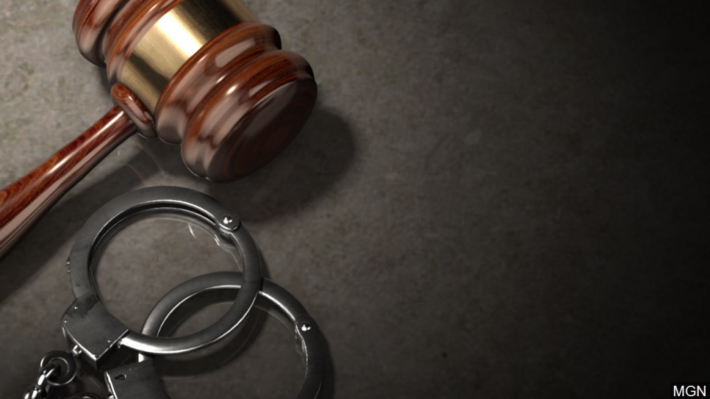 Court gavel and handcuffs