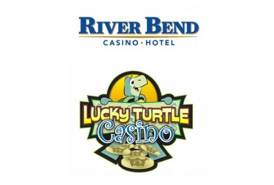 River Bend And Lucky Turtle Casino Logos