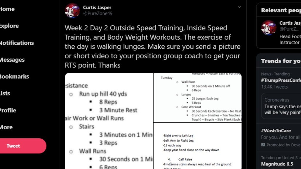 4-State coaches use social media to help student athletes stay active.