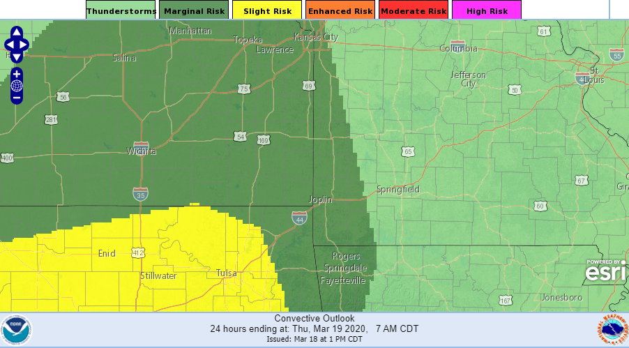 Tonight's Severe Outlook
