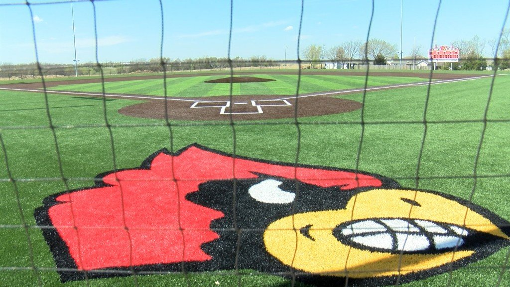 Newly renovated Chuck Barnes field waits for its first game.