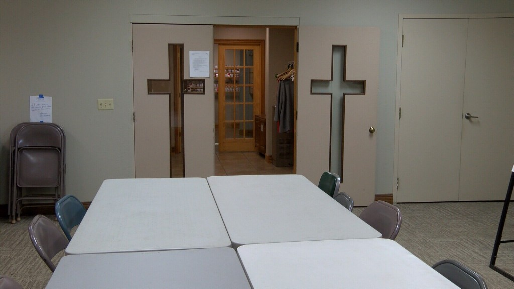 An empty meeting room at St Andrews in Grove will soon host AA meetings again
