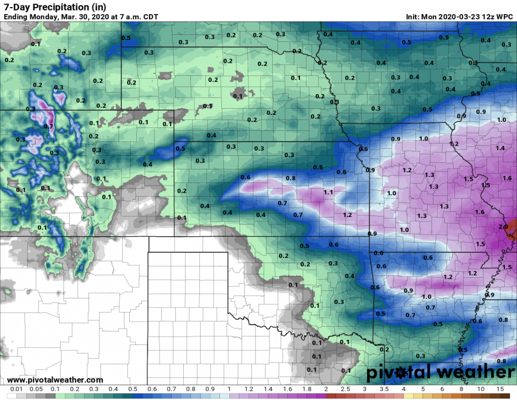 Expected Rain for the Next 7 Days