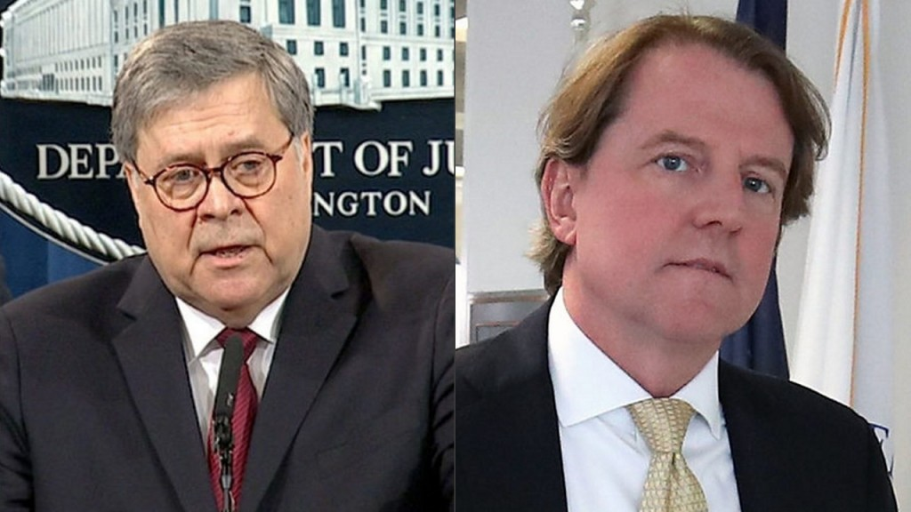 House Dems set sights on the President's men: Barr and McGahn