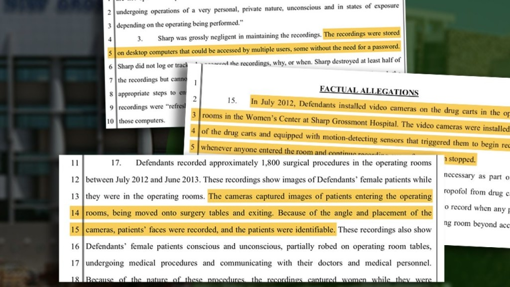 Lawsuit claims women were secretly recorded in hospital
