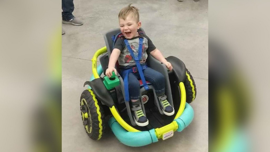 High school robotics team builds toddler customized wheelchair