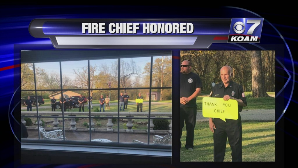 Volunteer Firemen In Galena, Kansas Come Together To Honor Chief Bill Hall