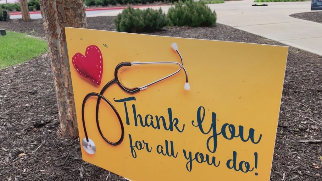 thank you sign for healthcare workers